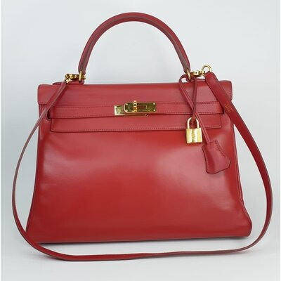 Bolsa Hermès Kelly 32 Swift Rouge