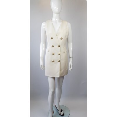 Vestido Balmain Cotton Branco