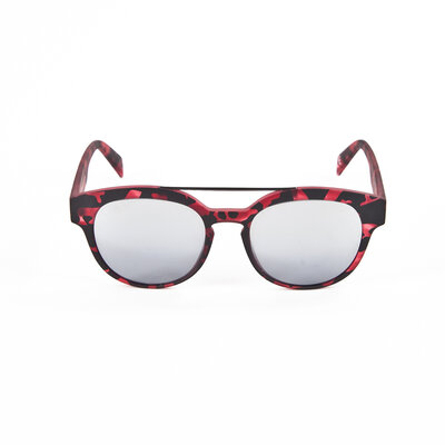 óculos Italia Independet preto e vermelho