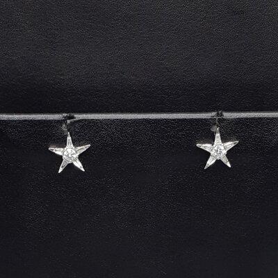 Brinco Jack Vartanian Estrela em brilhante ouro Branco