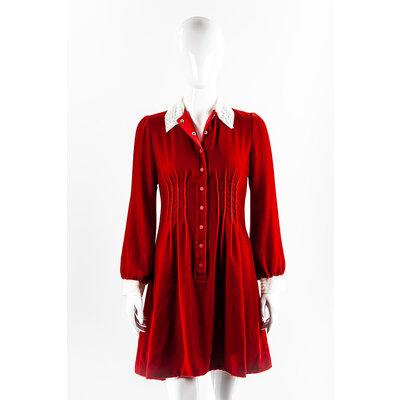 Vestido Dior Veludo Vermelho