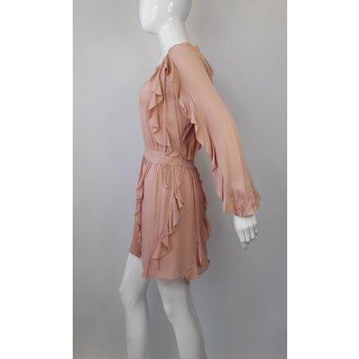 Vestido Valentino Crepe Rosa