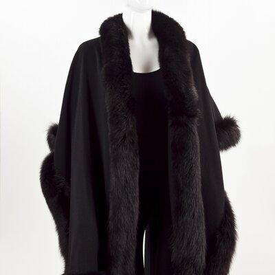 Pelerine Sprung em cashmere preto c/ renoir preto