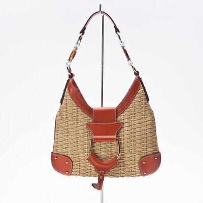 Bolsa Dolce & Gabbana em Couro Laranja com Palha