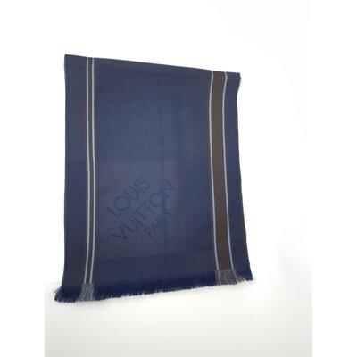 Cachecol Louis Vuitton Lã Marrom Azul
