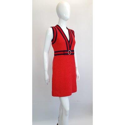 Vestido Gucci Tweed Vermelho