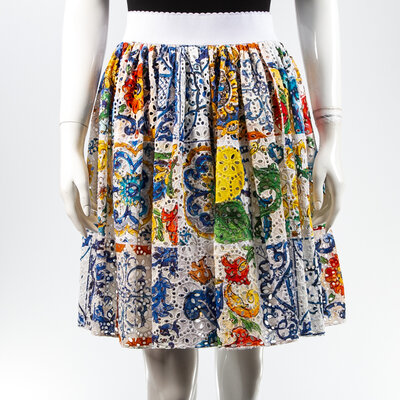 Saia Dolce & Gabbana Guipir Estampada