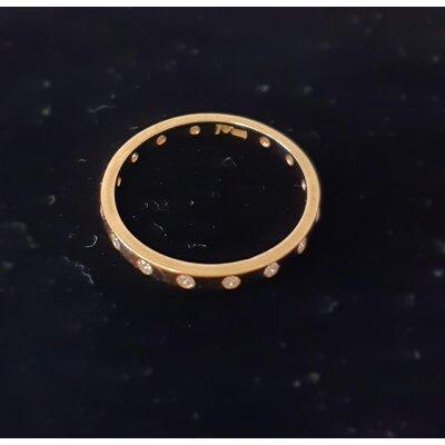Anel Jack Vartanian Cravado C/ Mini Brilhantes Ouro Amarelo