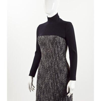 Vestido Christian Dior em Tweed B&W