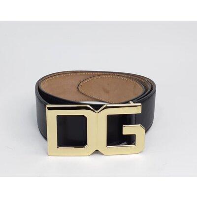 Cinto Dolce & Gabbana Couro Preto Dourado