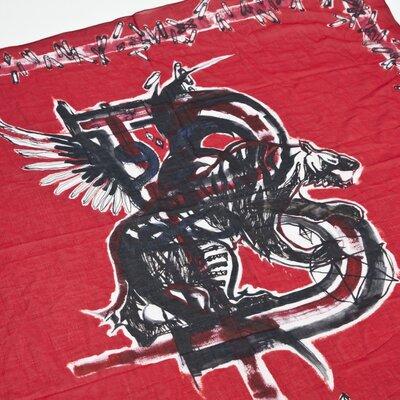 Lenço Balmain vermelho/preto