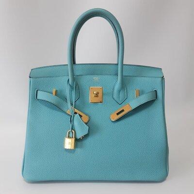 Bolsa Hermès Birkin 30 Togo Blue Atoll