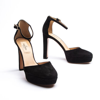 Sapato Valentino Camurça Preta