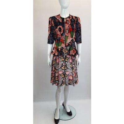 Vestido Louis Vuitton Veludo Estampado