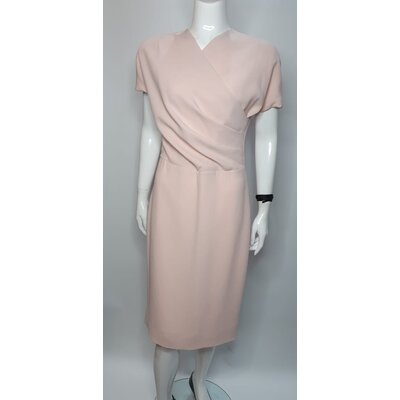 Vestido Bottega Veneta Crepe Rosa
