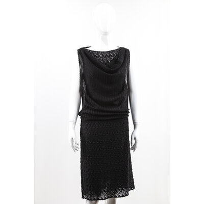 Vestido Missoni em malha preto
