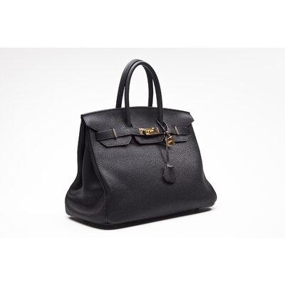Bolsa Hermès Birkin 35 Clemence Preta