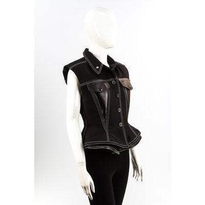 Colete Louis Vuitton Tecido/Couro Preto