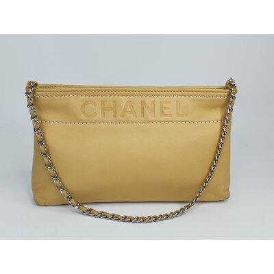 Bolsa Chanel, Couro, Bege