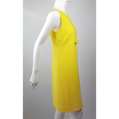 Vestido Red Valentino Crepe Amarelo