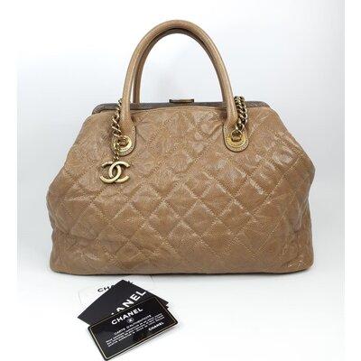 Bolsa Chanel Large Shopping Caviar Bege
