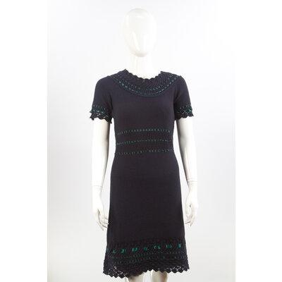 Vestido Dior Croche Azul Marinho