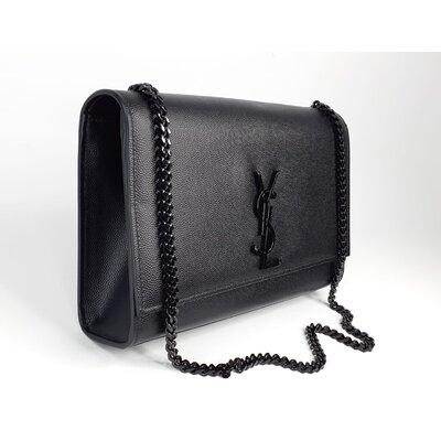 Bolsa Yves Saint Laurent Kate Medium Monograma Preta