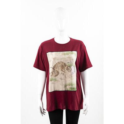Camiseta Gucci Cotton Bordô