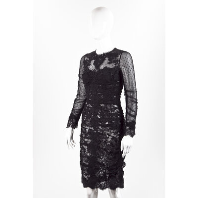 Vestido Dolce & Gabbana em renda preto