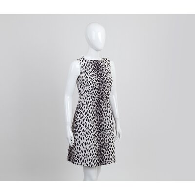 Vestido Christian Dior Animal Print b&w