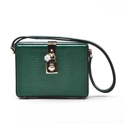 Clutch Dolce & Gabbana Box Cristal verde