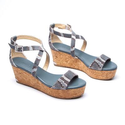 Sandália Jimmy Choo Couro Azul
