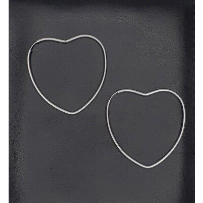 Argola Coração em Ouro Branco