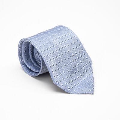 Gravata Ermenegildo Zegna Seda Azul Clara com Bolinhas
