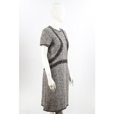 Vestido Chanel Tweed B&W
