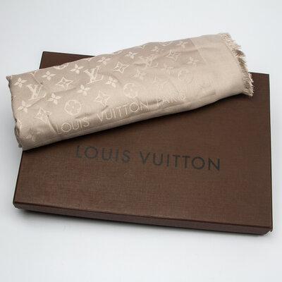 Echarpe Louis Vuitton Seda Cinza