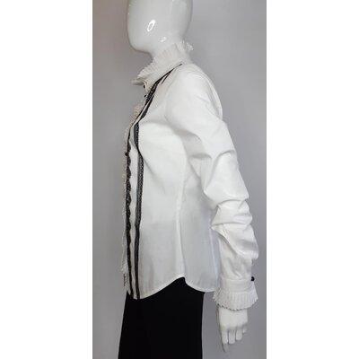 Camisa Valentino em Algodão com Renda B&W