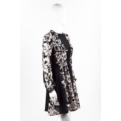 Vestido Valentino em crepe preto e bege