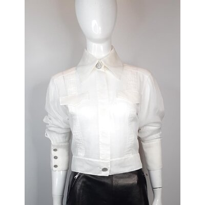 Camisa Chanel Algodão Branca