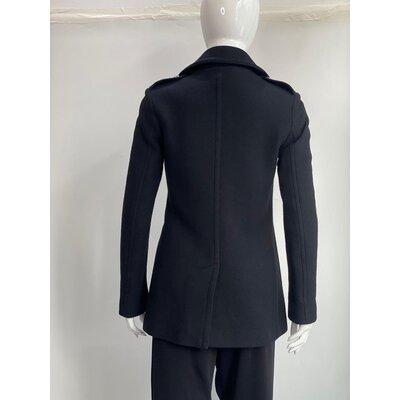 Trench Coat Burberry Cashmere, Lã Preto