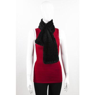 Cachecol Sprung em Vison tricotee preto