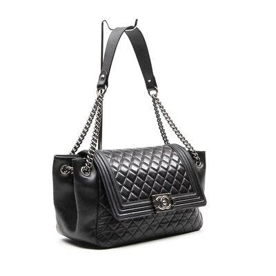 Bolsa Chanel Couro Preta