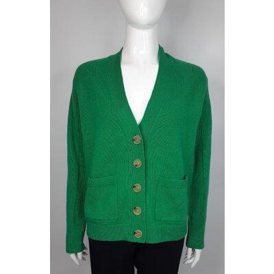 Cardigan Dvf Lã/Cashmere Verde