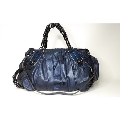 Bolsa Gucci Couro Azul Metalic