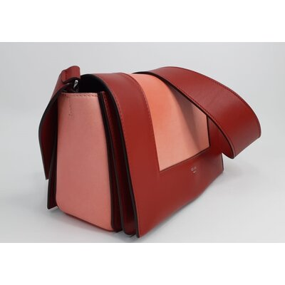 Bolsa Celine Medium Frame Rosa Vermelha