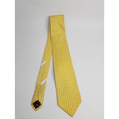 Gravata Salvatore Ferragamo Seda Estampada em Amarelo