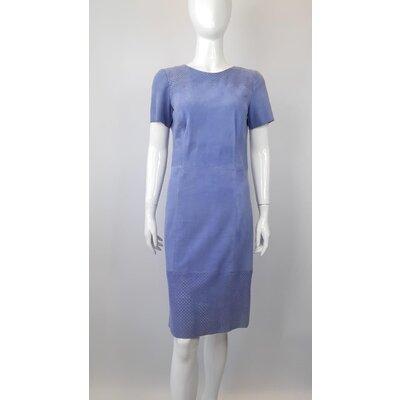 Vestido Giorla Camurça Azul