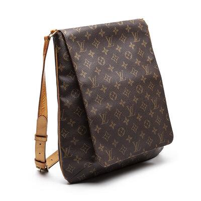 Bolsa Louis Vuitton em couro logomarca