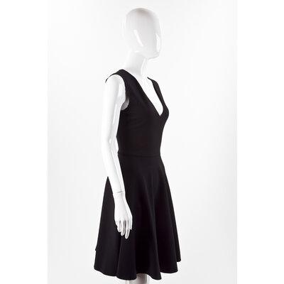 Vestido Pucci preto em crepe com ziper lateral