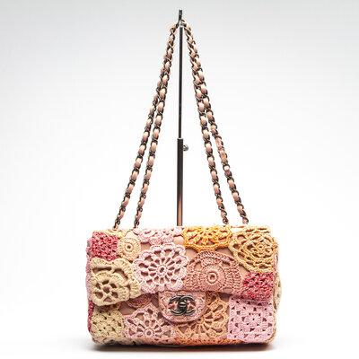 Bolsa Chanel Patchwork Rosa